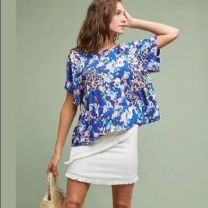 Anthropologie Maeve Top with allover floral print